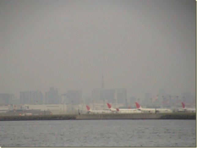 微かに見える東京の街